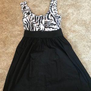 xhilaration zebra topped dress